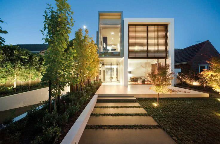 92 fachadas de casas modernas para te inspirar for South australian home designs