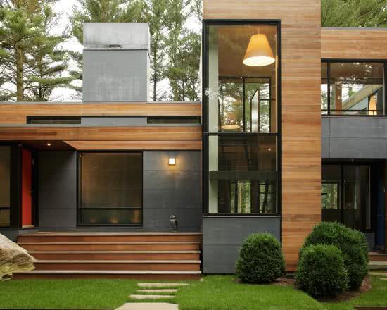 92 fachadas de casas modernas para te inspirar - Pintura para fachada exterior ...