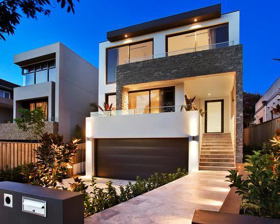 92 fachadas de casas modernas para te inspirar for Casa de diseno guadalajara