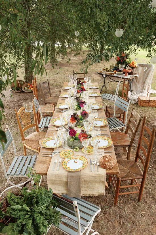 55 fotos de decora o de festa e jantar entre amigos for Outdoor brunch decorating ideas