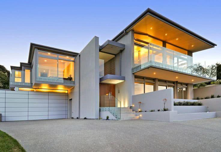 92 fachadas de casas modernas para te inspirar for Aberturas para casas modernas