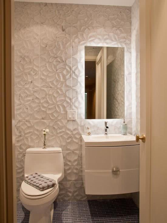 Banheiro pequeno papel de parede obtenha uma for Fotos lavabos pequenos