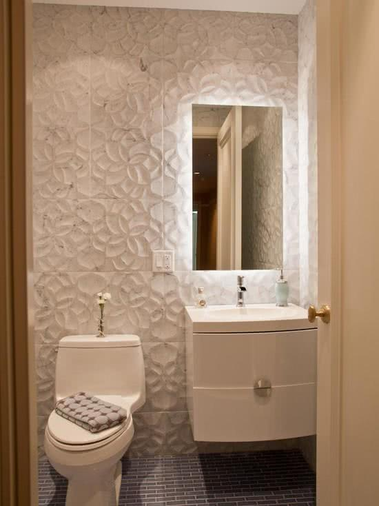 56 projetos de lavabos pequenos decorados fotos for Lavabos pequenos medidas