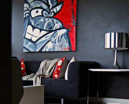 Ambientes decorados com grafites e desenhos