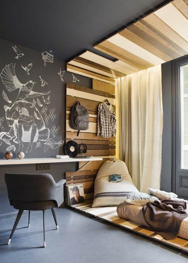 50 fotos de decora o de quartos de solteiro masculino - Fotos de lofts decorados ...