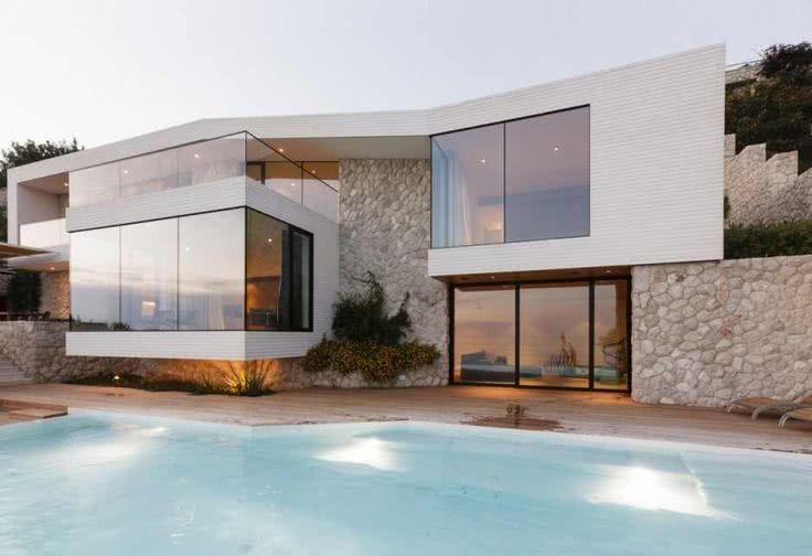 92 fachadas de casas modernas para te inspirar - Casas minimalistas en espana ...
