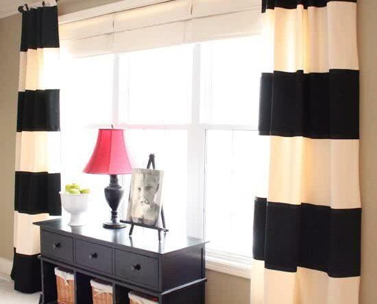 Ambientes decorados com cortinas de tecido