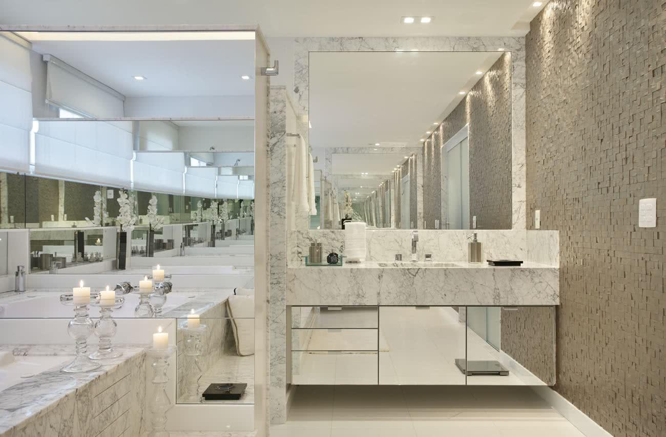 75  Projetos de Banheiros de Luxo Fotos #5A513C 1300x853 Banheiro De Luxo Florianopolis