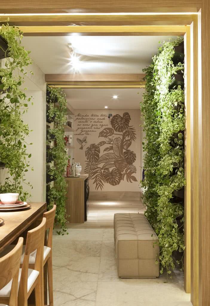 Projeto de casa com jardim vertical