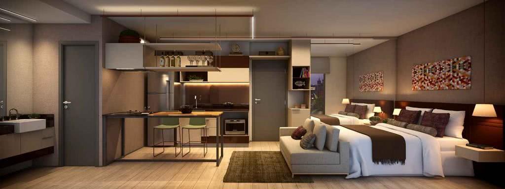 85 apartamentos pequenos decorados incr veis for Diseno de apartamentos de 45m2