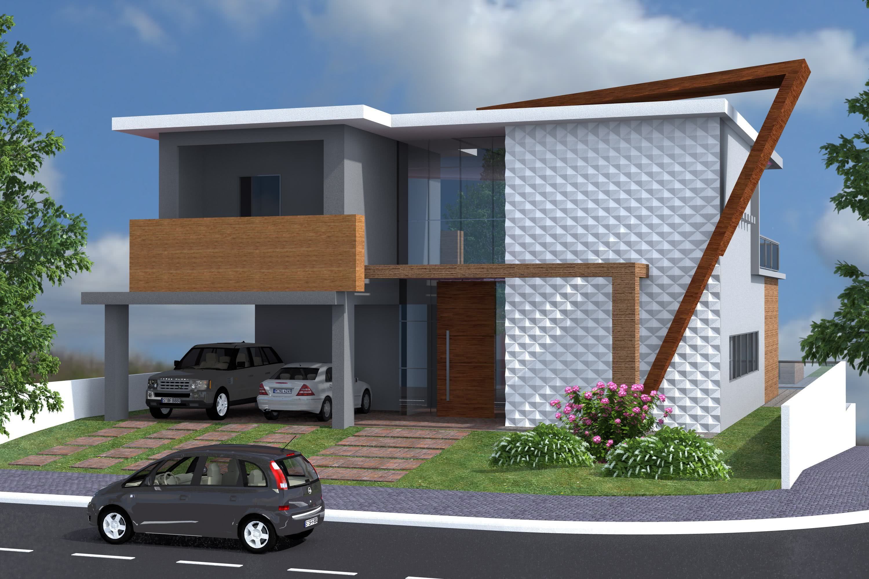 92 fachadas de casas modernas para te inspirar for Fachadas frontales de casas modernas