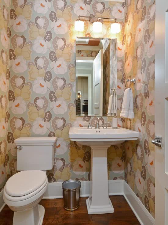 51 fotos de papel de parede para banheiro na decora o Low cost interior design ideas india