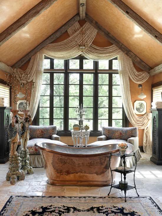 Banheira de cobre