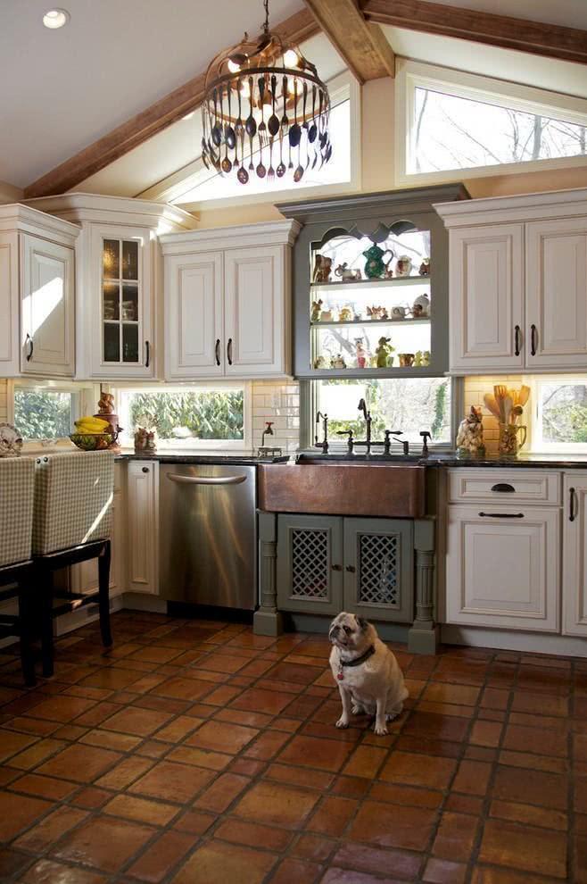 Exemplo de cozinha em casa de campo.