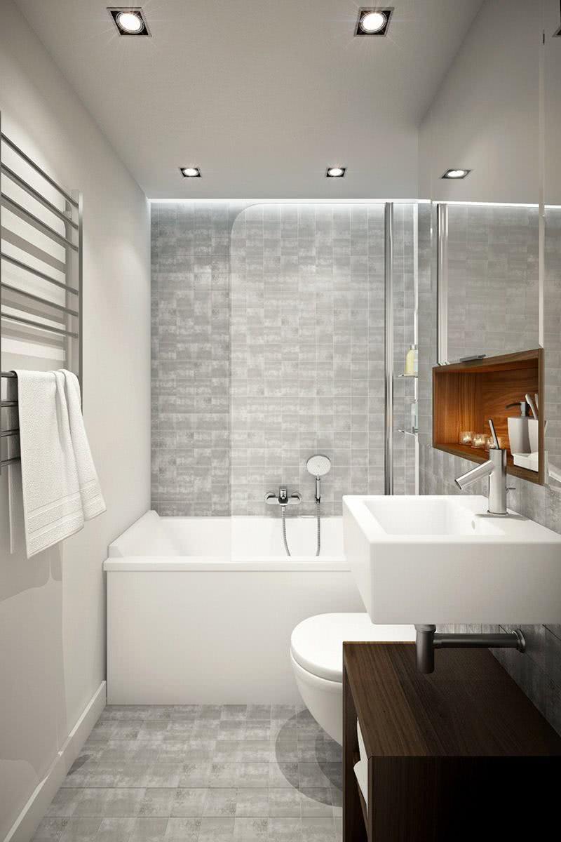 Banheiros com banheiras 75 projetos fotos e ideias for Bathroom remodel under 500