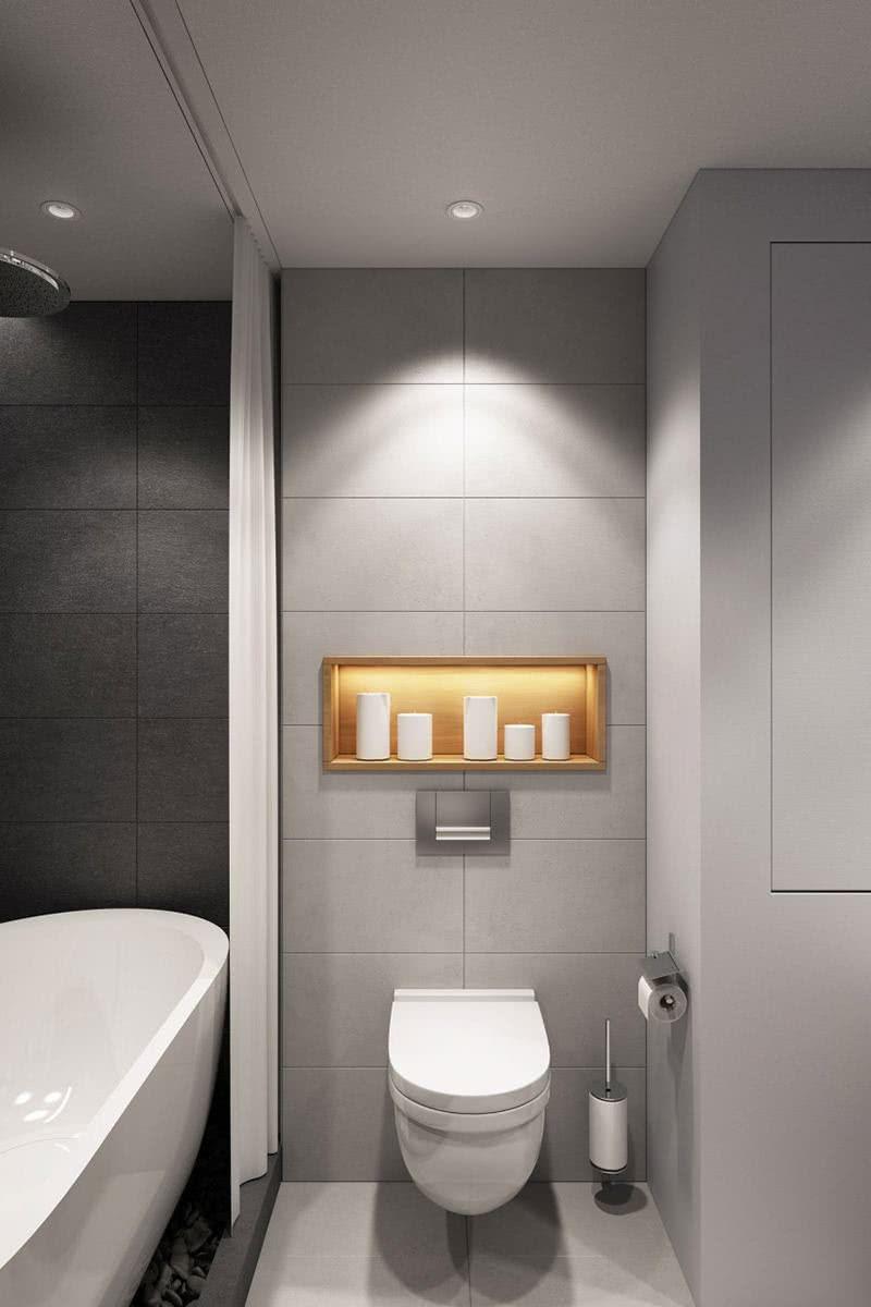 Para ocupar menos espaço a cortina é a melhor opção para levar privacidade ao local
