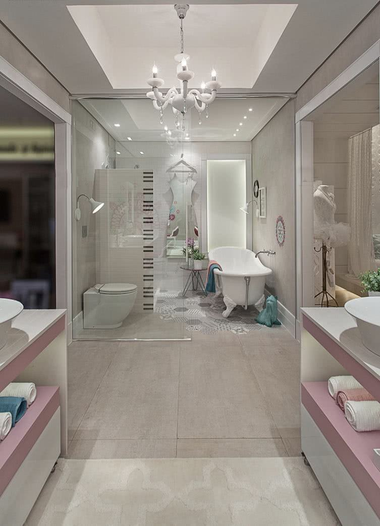 Banheiros com Banheiras 75+ Projetos, Fotos e Ideias! -> Banheiro Com Banheira Dwg