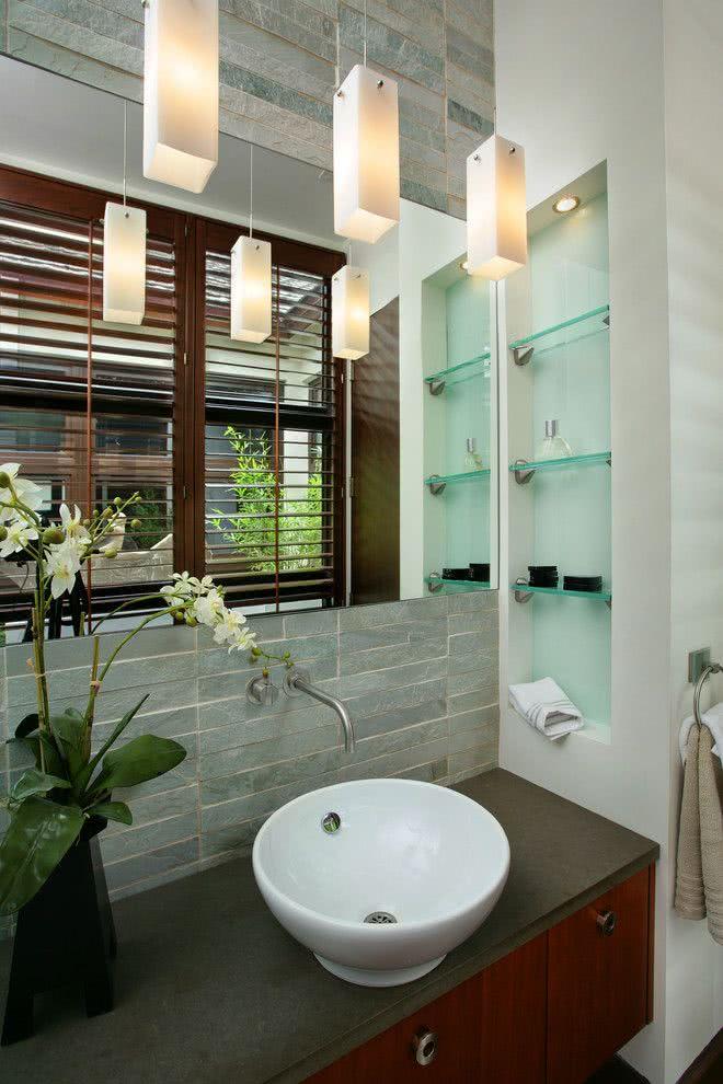 87 Ideias de Decoração com Nichos Modelos e Fotos! -> Nichos Banheiros Modernos