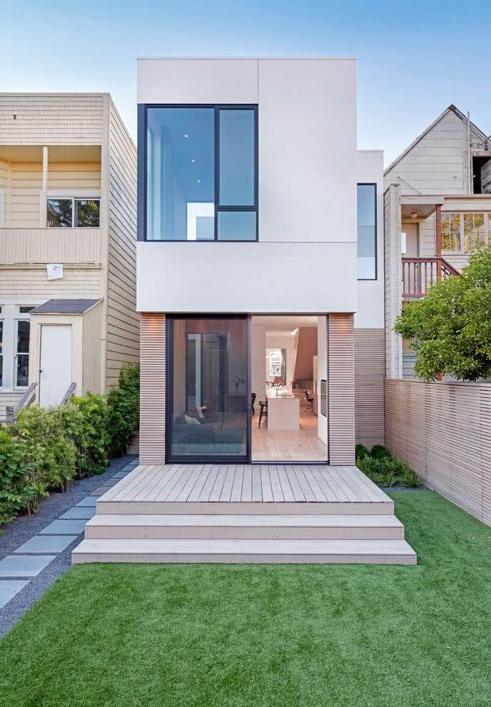 90 fachadas de sobrados modernos projetos incr veis for Fachadas de casas modernas de 6 metros