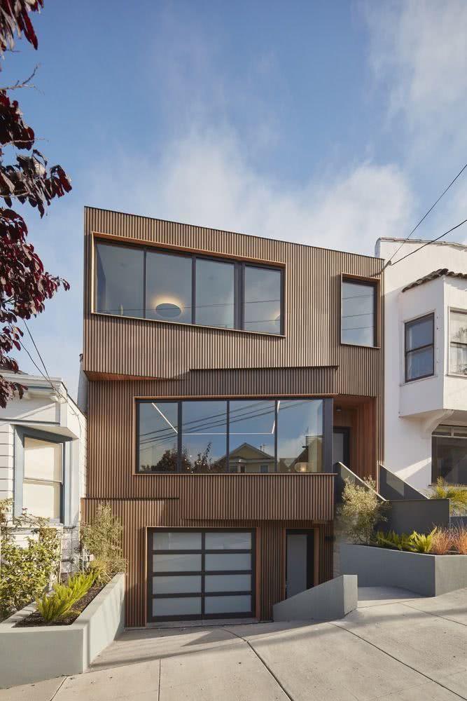 90 fachadas de sobrados modernos projetos incr veis for Casa modelo americano