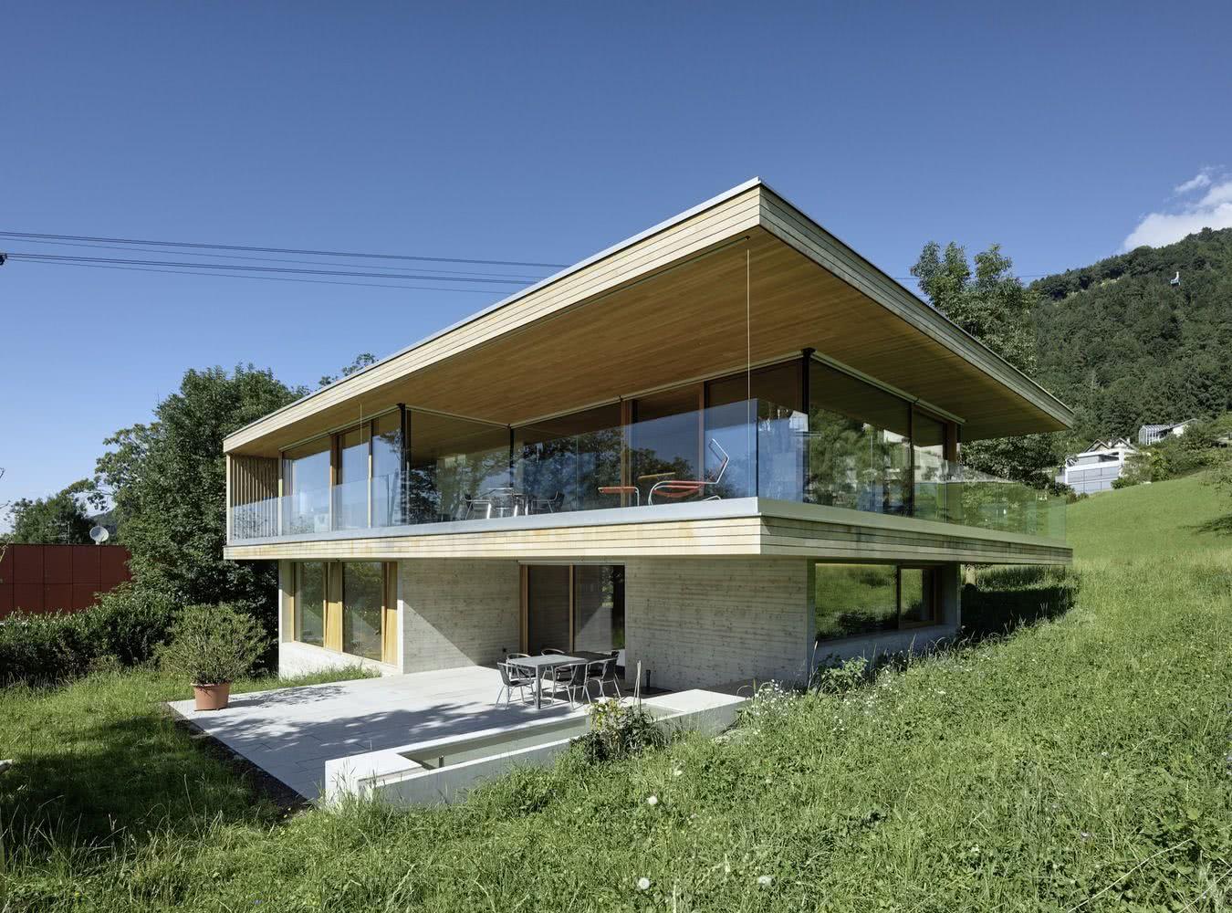 90 fachadas de sobrados modernos projetos incr veis. Black Bedroom Furniture Sets. Home Design Ideas