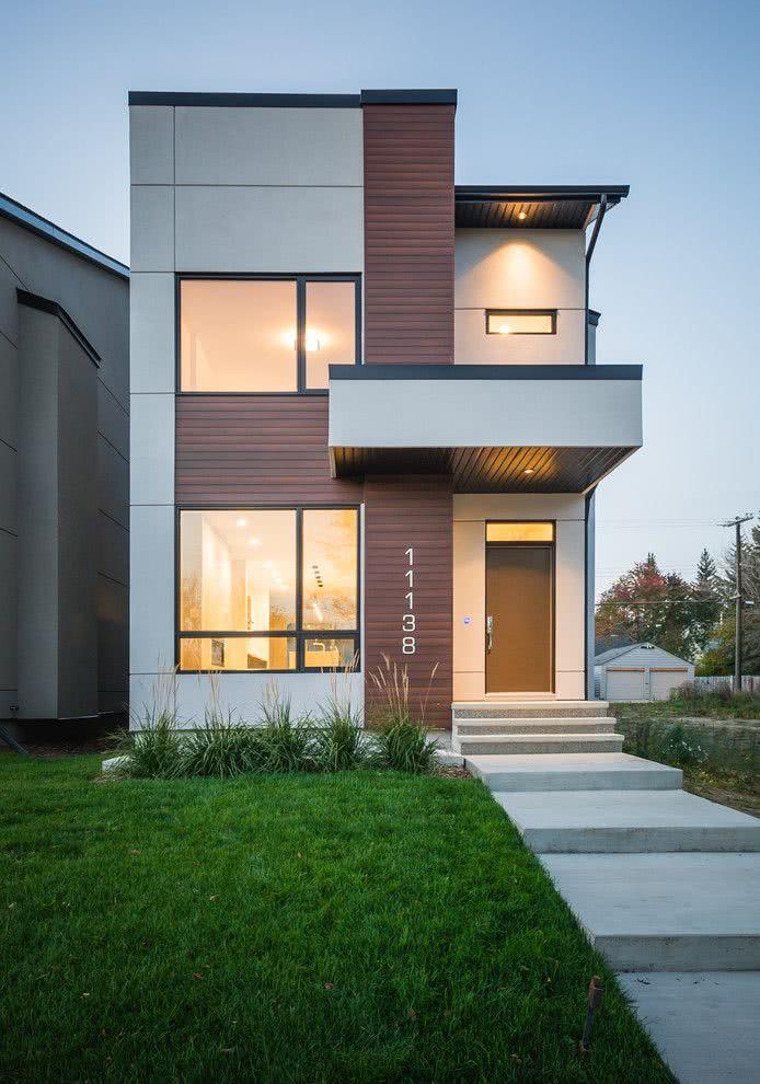 90 fachadas de sobrados modernos projetos incr veis for Ver jardines de casas pequenas