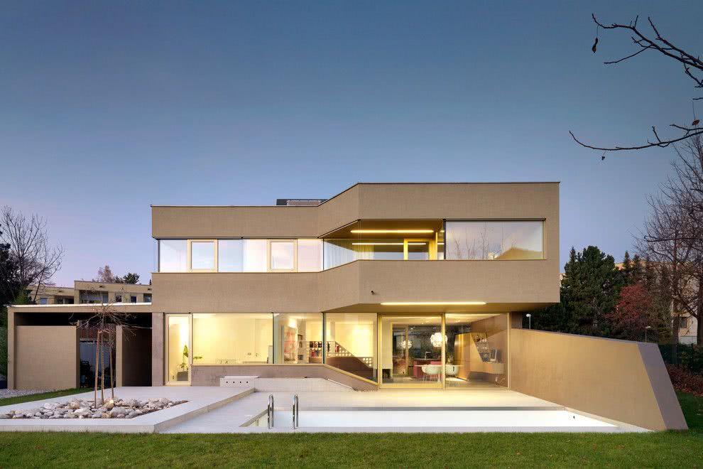 90 fachadas de sobrados modernos projetos incr veis for Design moderno casa contemporanea con planimetria