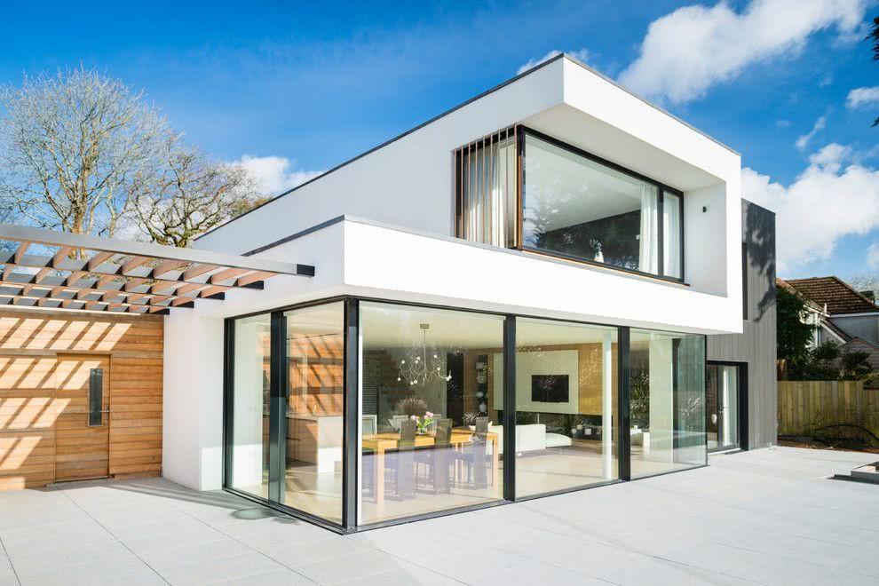 90 fachadas de sobrados modernos projetos incr veis for Modernes luxushaus