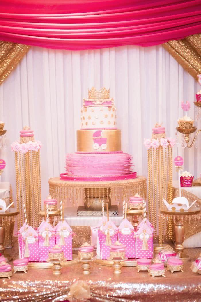 Para a futura princesinha, muito brilho, pink, glam!