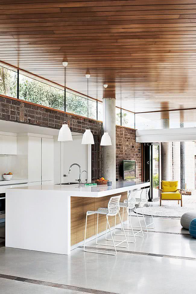 52 cozinhas modernas planejadas com fotos incr veis - Casa americana in legno ...