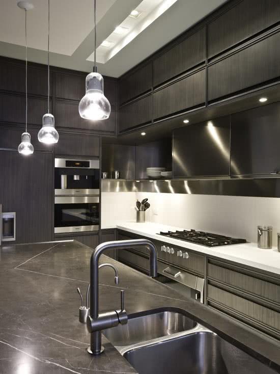 Cozinha grafite com inox
