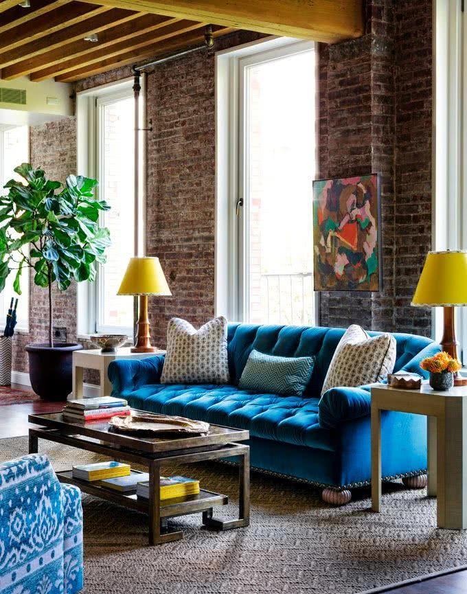 51 modelos de sof s diferentes na decora o inspire se for Sofa azul turquesa