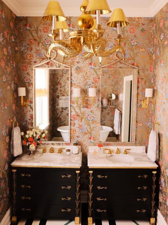 51 Fotos De Papel De Parede Para Banheiro Na Decora 231 227 O
