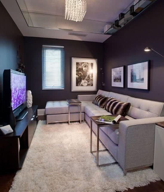 56 salas de tv decoradas com fotos para te inspirar