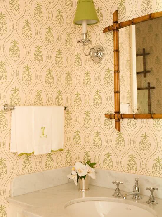 51 Fotos de Papel de Parede para Banheiro na Decora??o