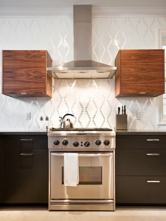 Papel De Parede No Armario De Cozinha : Fotos de papel parede para cozinhas na decora??o