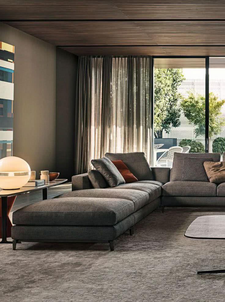 75 sof s com chaise em salas de estar fotos for Contemporary interior design pinterest