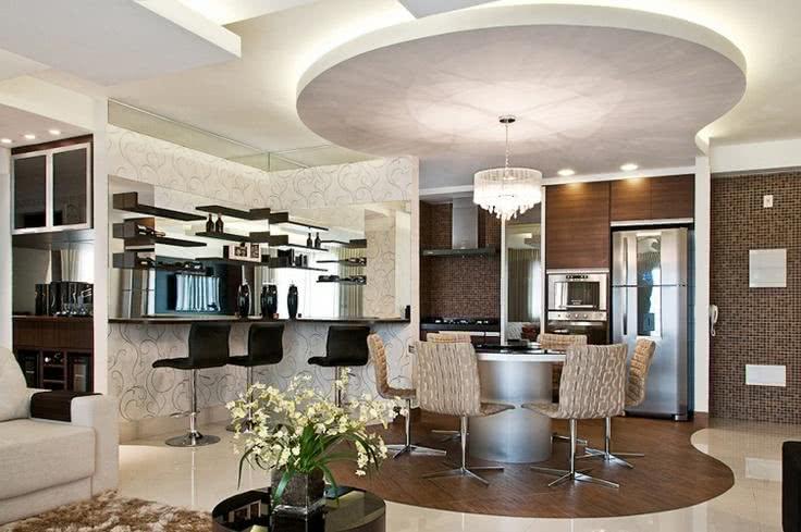 Sala De Jantar Com Forro De Gesso ~  11 – A iluminação é o destaque desta sala de estar com sanca