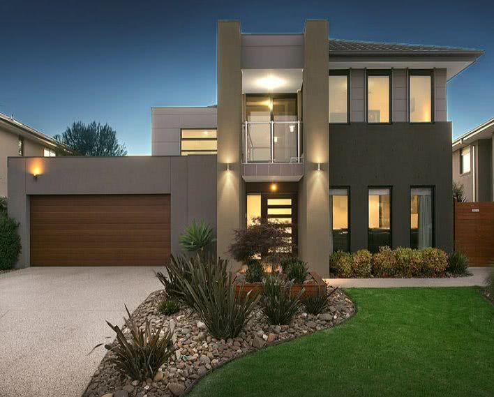 90 fachadas de sobrados modernos projetos incr veis for Fachadas duplex minimalistas