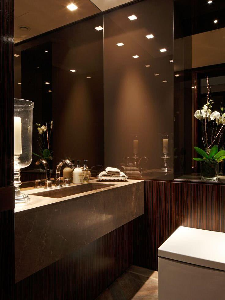 contemporary bathroom decor ideas 75 modelos de espelho bronze na decora 231 227 o de ambientes 17835