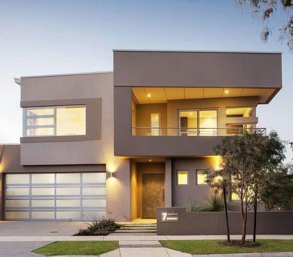 90 fachadas de sobrados modernos projetos incr veis for Pisos para balcones exteriores
