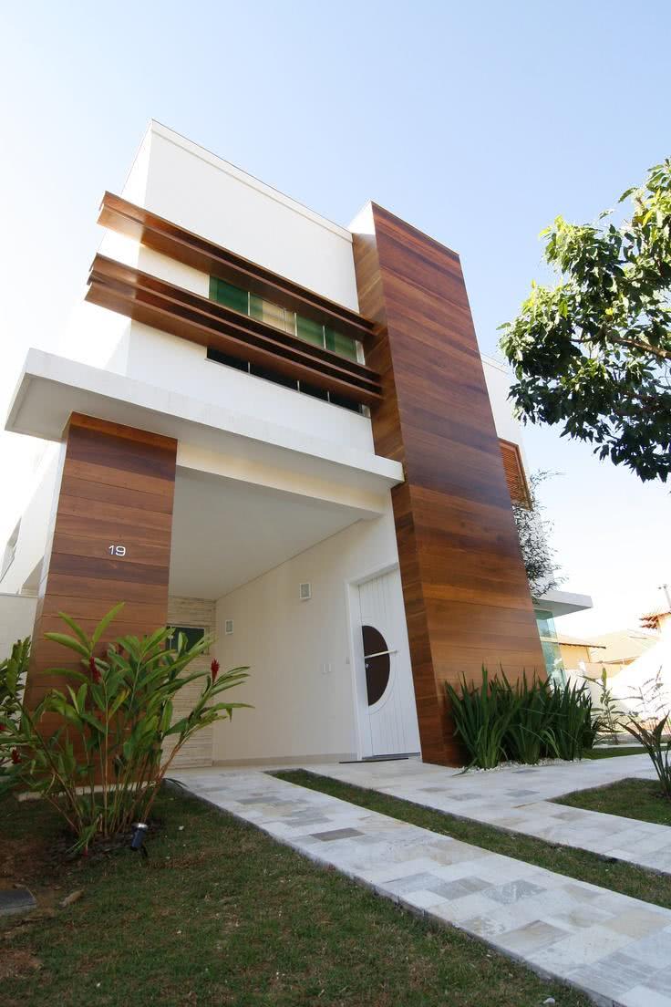 90 fachadas de sobrados modernos projetos incr veis for Casas contemporaneas en esquina