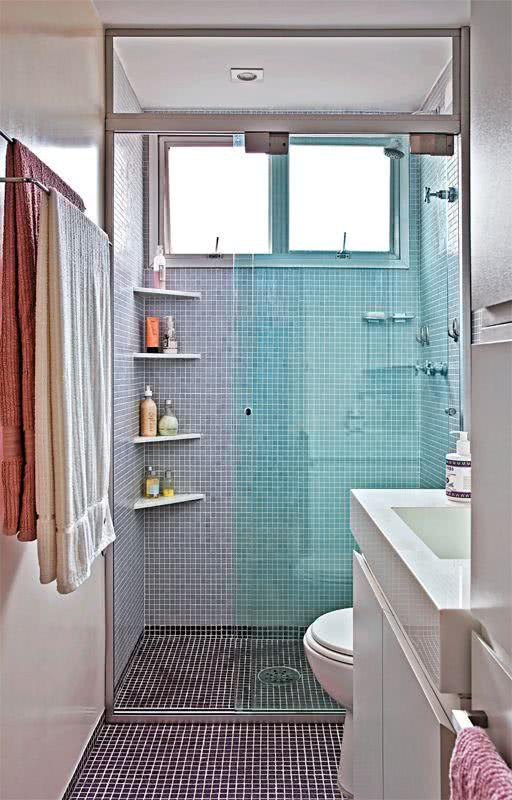 Tipos de Pisos Residenciais  50 Fotos para te Inspirar -> Banheiro Piso Decorado