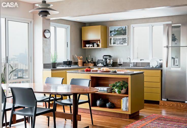 50 Modelos e Tipos de Janelas Correr, Veneziana e Mais # Cozinha Com Ilha E Sala Integrada