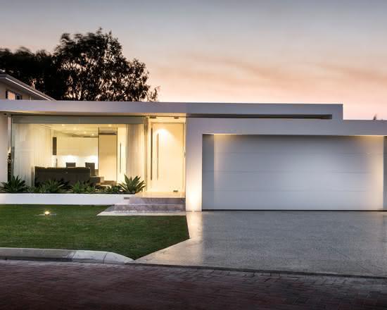 90 fachadas de casas t rreas modelos e fotos incr veis for Casas minimalistas baratas