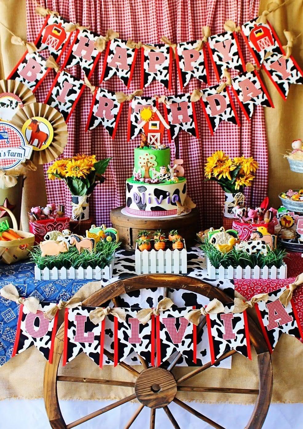 80 Ideias De Decoração De Festa Infantil Fazendinha