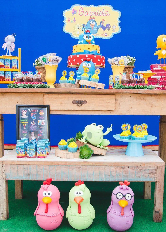 60 Ideias de Decoraç u00e3o de Festa da Galinha Pintad -> Decoração Festa Infantil Galinha Pintadinha Simples