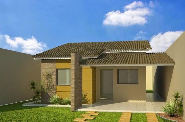 109 fachadas de casas simples e pequenas fotos lindas for Fachadas bonitas para casas pequenas