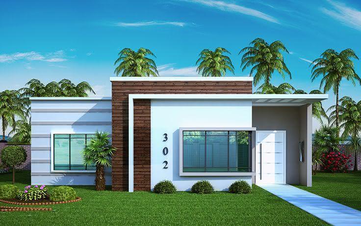 awesome casa com telhado embutido with fachadas casa - Fotos De Fachadas De Casas