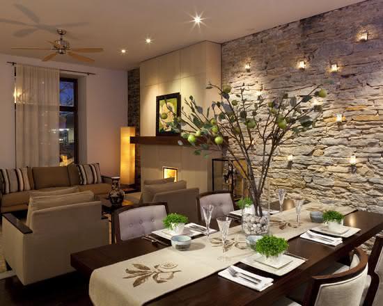 50 paredes com pedras como revestimento fotos - Amenager lounge m ...